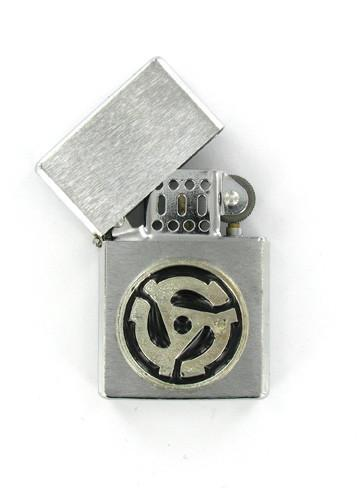 Accessories - 45 RPM Record Adapter Chrome Lighter