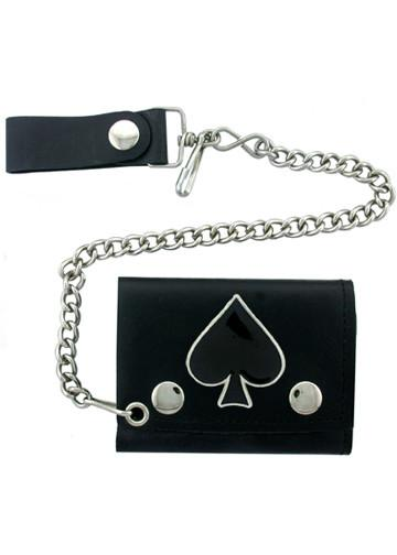 Accessories - Ace Of Spades Biker Wallet With Chain