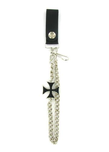 "Accessories - Black Iron Cross 12"" Biker Wallet Chain"