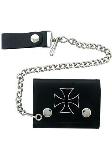 Accessories - Black Iron Cross Biker Wallet