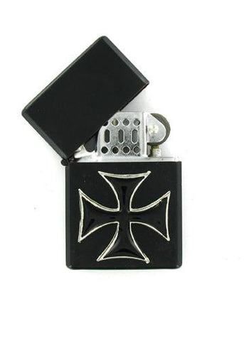Accessories - Black Iron Cross Black Lighter