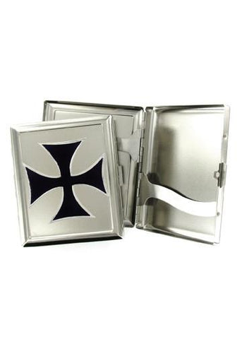 Accessories - Black Iron Cross Cigarette Case
