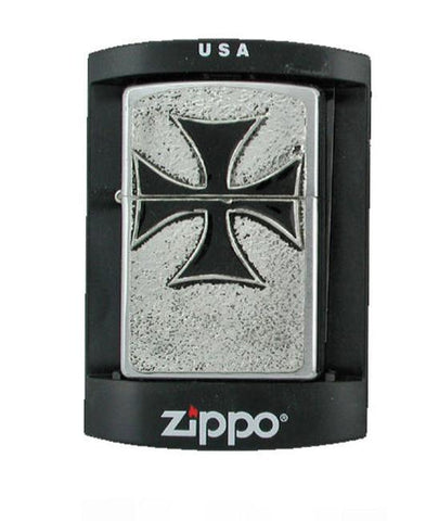 Accessories - Black Iron Cross Zippo Lighter