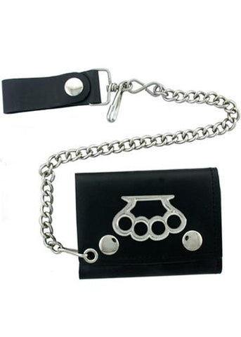 Accessories - Brass Knuckles Tri-fold Biker Wallet