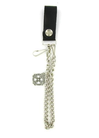 "Accessories - Celtic Cross 12"" Biker Wallet Chain"