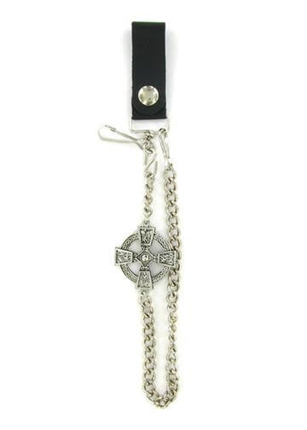 "Accessories - Celtic Cross 18"" Biker Wallet Chain"