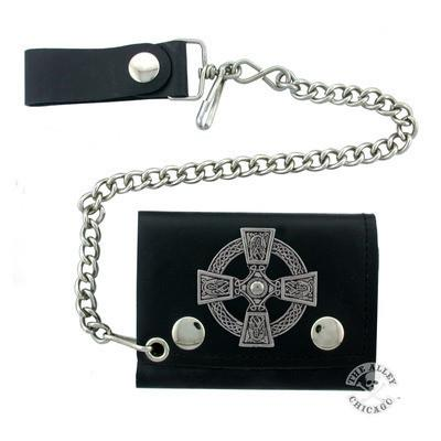 Accessories - Celtic Cross Biker Wallet
