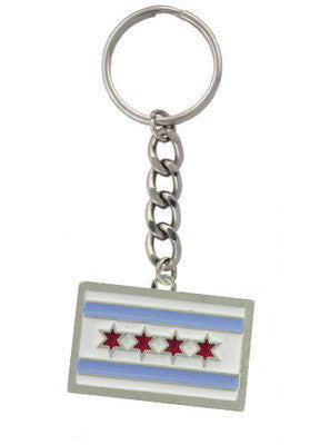 Accessories - Chicago Municipal Flag Keychain