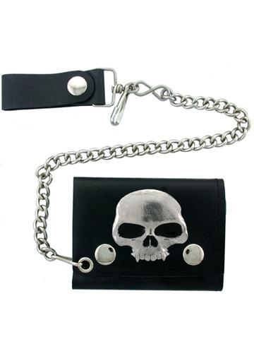 Accessories - Classic Vampire Skull Biker Wallet With Chain