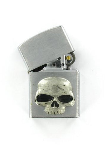 Accessories - Classic Vampire Skull Emblem Chrome Lighter