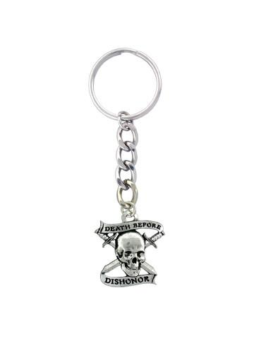 Accessories - Death Before Dishonor Skull & Crossbones Keychain
