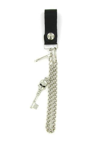 "Accessories - Death's Head Skeleton Key 18"" Biker Wallet Chain"