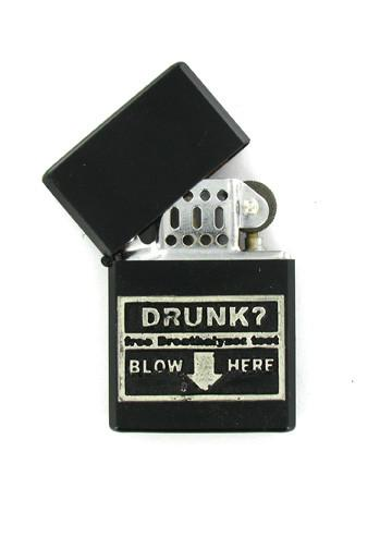 Accessories - Drunk? Free Breathalyzer Test - Blow Here Black Lighter