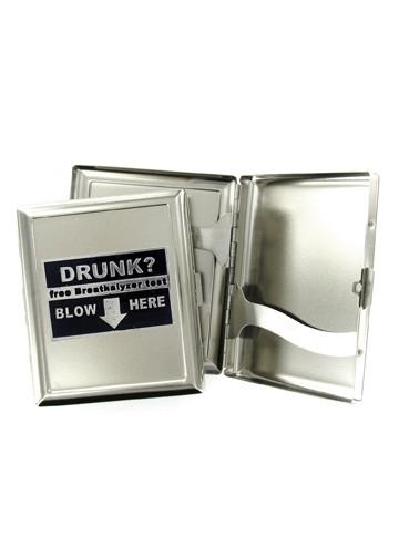 Accessories - Drunk? Free Breathalyzer Test - Blow Here Cigarette Case