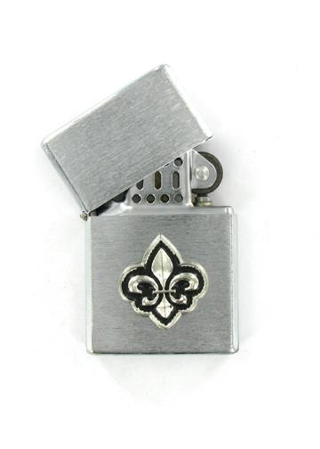 Accessories - Fluer De Lis Emblem Chrome Lighter