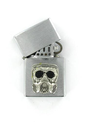 Accessories - Gas Mask Emblem Chrome Lighter