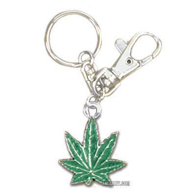 Accessories - Green Pot Leaf Belt Loop Keychain