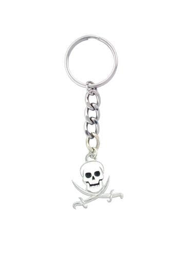 Accessories - Jolly Roger - Pirate Skull And Swords Keychain