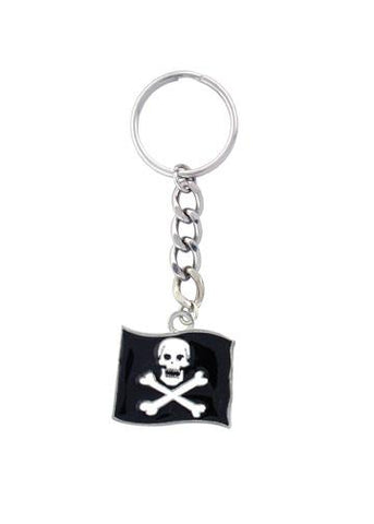 Accessories - Jolly Roger Pirate Skull Flag Keychain