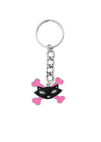 Accessories - Kitty Cat & Crossbones Keychain