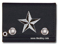 Accessories - Nautical Star Tri-fold Biker Wallet