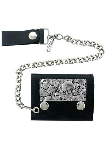 Accessories - Pile Of Skulls Biker Wallet