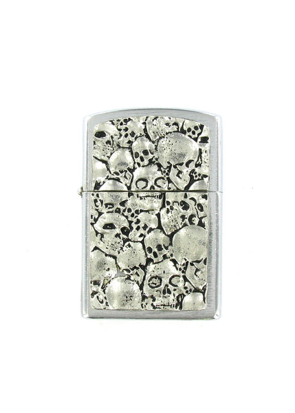 Accessories - Pile Of Skulls Full Body Chrome Lighter