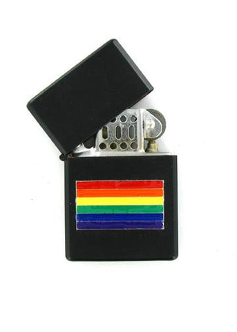 Accessories - Rainbow Pride Flag Black Lighter