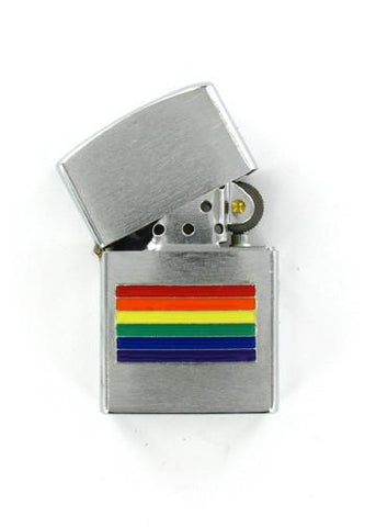 Accessories - Rainbow Pride Flag Chrome Lighter