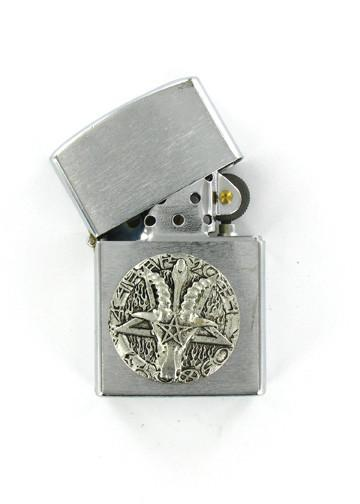 Accessories - Ram's Head Pentagram Emblem Chrome Lighter