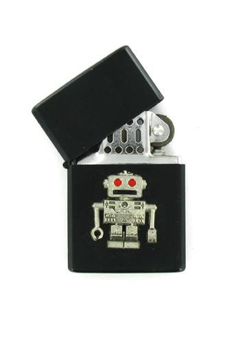 Accessories - Retro Red Eye Robot Black Lighter