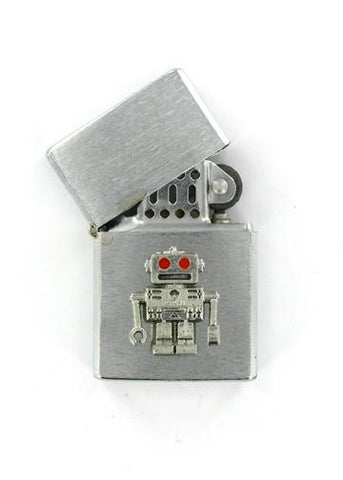 Accessories - Retro Red Eye Robot Emblem Chrome Lighter