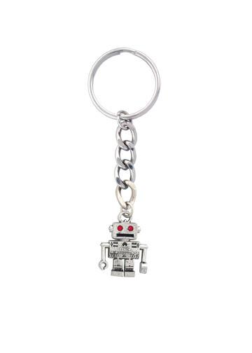 Accessories - Retro Red Eye Robot Keychain