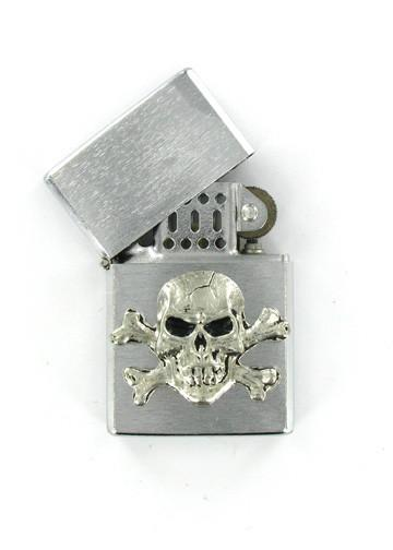Accessories - Skull And Crossbones Chrome Lighter
