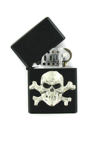 Accessories - Skull & Crossbones Black Lighter