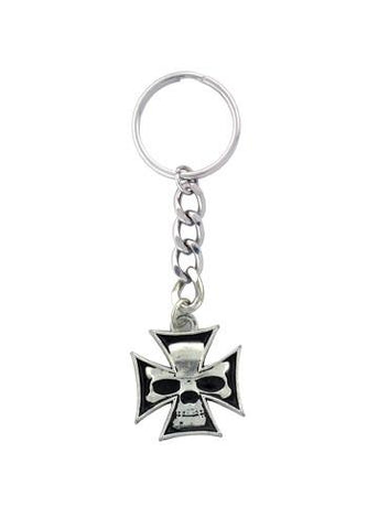 Accessories - Skull Inside Iron Cross Keychain