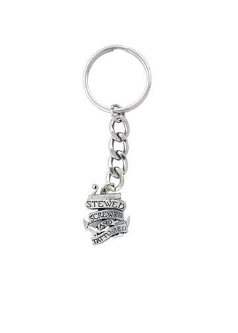 Accessories - Stewed Screwed & Tattooed Anchor Keychain
