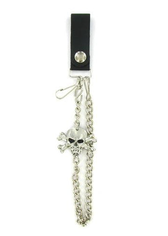"Accessories - Vampire Skull And Crossbones 18"" Biker Wallet Chain"