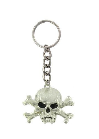Accessories - Vampire Skull And Crossbones Keychain