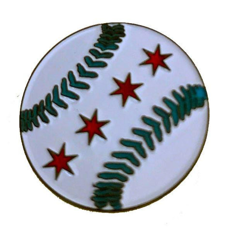 Baseball Chicago Flag Pin