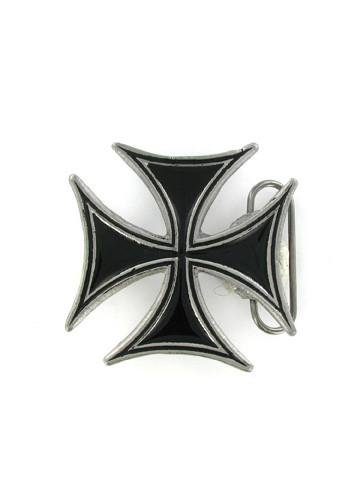 Belts & Buckles - Black Iron Cross Belt Buckle