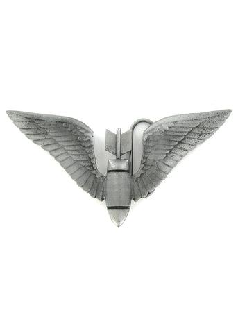 Belts & Buckles - Bomb With Wings Belt Buckle