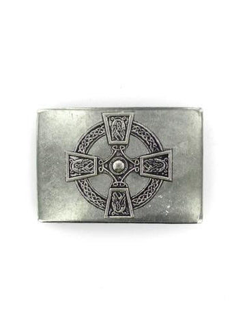 Belts & Buckles - Celtic Cross Rectangle Belt Buckle