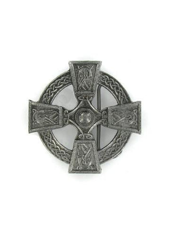 Belts & Buckles - Celtic Knotted Cross Belt Buckle