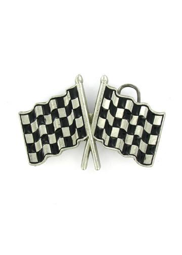 Belts & Buckles - Checkered Racing Flags Belt Buckle