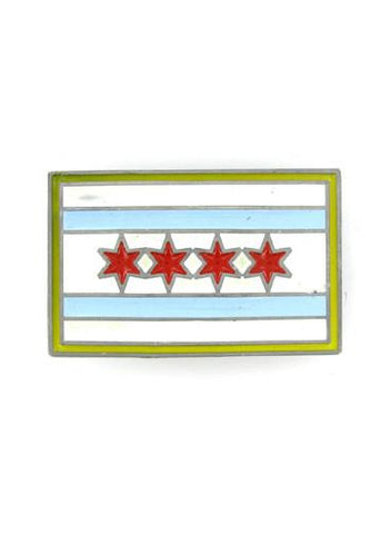 Belts & Buckles - Chicago Flag Belt Buckle