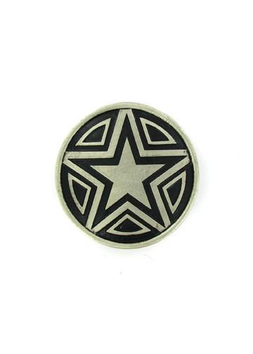 Belts & Buckles - Circle With A Star Design Belt Buckle