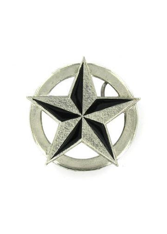 Belts & Buckles - Circular Nautical Star Belt Buckle