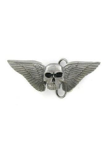 Belts & Buckles - Classic Winged Skull Belt Buckle