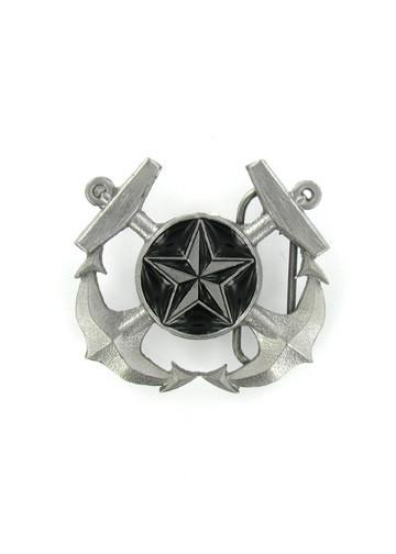 Belts & Buckles - Crossed Anchors And Nautical Star Belt Buckle